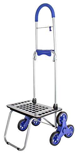dbest products Stair Climber Bigger Mighty Max Personal Dolly, Blue Handtruck Cart Hardware Garden Utilty