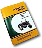 John Deere Model B Tractor Owners Operators Manual Styled Operating Maintenance and Adjustments Covers Serial Numbers B60000 to B201000