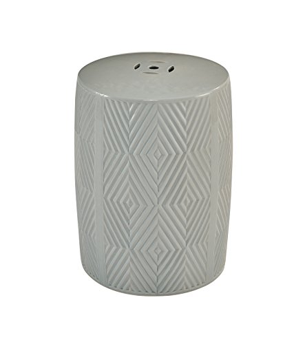 Abbyson® Rayce Ceramic Garden Stool, Grey by Abbyson®