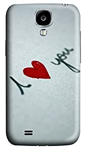 Samsung S4 Case Creative I Love You 3D Custom Samsung S4 Case Cover