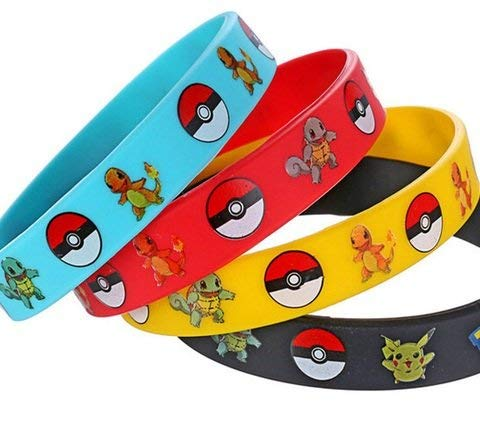 Pokemon 24 Count Monster Rubber Bracelet Wristband-Birthday Party Favors Supplies -