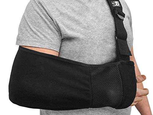 Ergonomic Arm Sling Medical Support Strap for Men and Women. Comfortable Immobilizer with Adjustable Slings for Shoulder, Arm, Elbow, Rotator Cuff Pain. Fits Left, Right Arms. Fractures, Dislocation