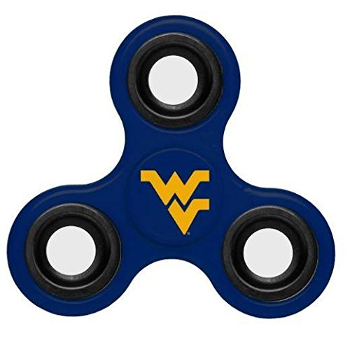 NCAA Diztracto Fidget Spinnerz - 3 Way, West Virginia Mountaineers, One - Virginia Outlets