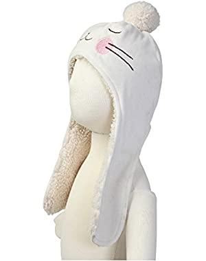 Baby Girls' Velour Bunny Hat