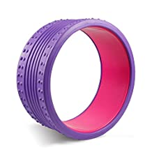 Yoga Massage Wheel - Strongest Dharma Yoga Prop Wheel for Yoga Poses, Perfect Back Roller for Massaging, Stretching and Backbends