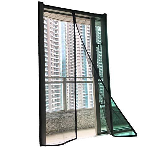 (F.S. Luxurious Magnetic Screen Door Fiberglass [Upgraded] Mosquito Bug Off Screen Curtain Full Frame Hook and Loop Tape Mesh Insect Net Size 39x83 for Patio Door French Door Sliding Glass Door 38 x 82 )