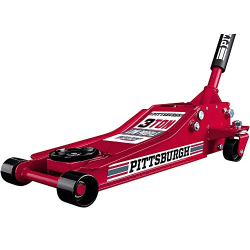 Pittsburgh Automotive 3 Ton Heavy Duty Ultra Low Profile Steel Floor Jack with Rapid Pump Quick Lift (Best 3 Ton Floor Jack For The Money)
