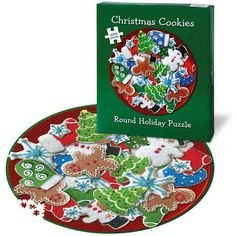 1000 Piece Christmas Cookies Round Puzzle