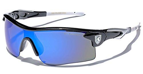 Premium Polarized Mirror Lens Sports Cycling Fishing Sunglasses - Black