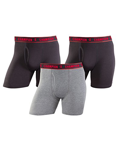 n Performance Boxer Brief, mid Charcoal Heather/Black, Medium ()