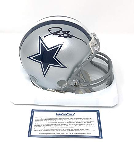 Deion Sanders Dallas Cowboys Signed Autograph Mini Helmet Steiner Sports Certified