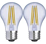 GE Lighting 31881 Clear Finish Light Reveal HD Dimmable LED A15 Ceiling Fan Bulb 5.5 (60-Watt-Replacement), 420-Lumen Medium Base, 2-Pack Standard,
