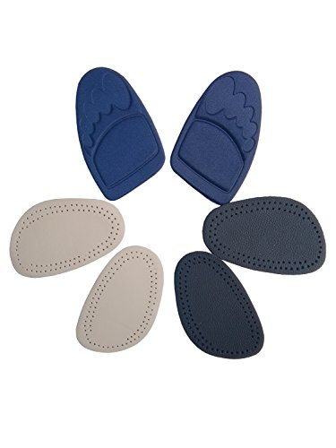 Bellcon Shoe Tongue Pads High Heel Shoe Pads for Womens Leather Half Insoles Nonskid Forefoot Shoe Inserts Odor Control Cushion Pads, 3 Pairs