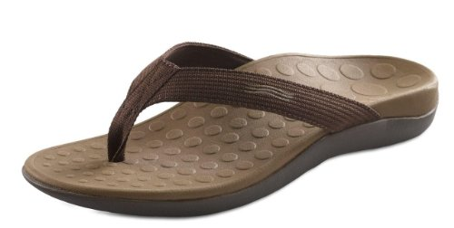Orthaheel, Wave, Thong Sandals,Chocolate, Men's 12/ Women's