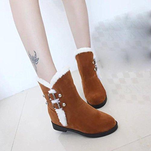 Las mantienen de nieve Botas botines Mujer ® plataforma Amarillo cálida moda Botas Martin mujeres Ouneed wngt0