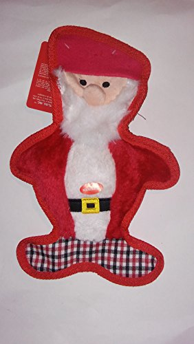 Bite Me Pet Toys (13 Inch Holiday Christmas Floppy Bite Me Santa Claus With Squeaker Dog Toy By Petlou)