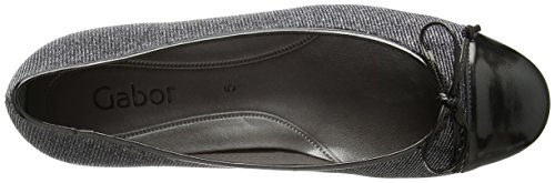 Argento 69 Grey Gabor Flats Basic Ballet Women's Shadow qnFZO