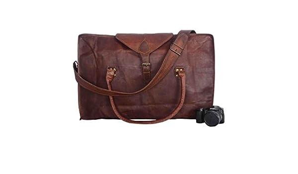 2035f7cbfc91 Amazon.com: Vintage Leather Bazaar Large Leather Duffle Bag for men ...
