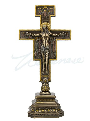 Stand Statue - San Damiano Crucifix on Stand Sculpture 14