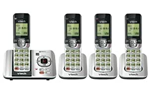 Vtech DECT CS6529-4 6.0 4-Handset Cordless Phone System with Digital Answering Machine, Handset Speakerphones