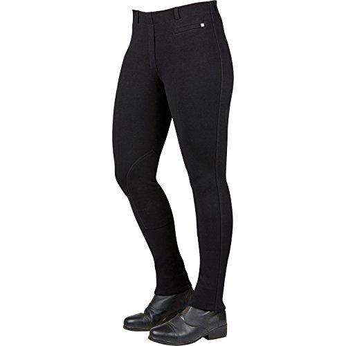 Dublin Supa-Fit Pull On Knee Patch Jodhpurs Ladies Black j6FOED