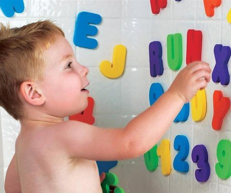36 Bath Toys Letters & Numbers ,for Toddler Bath TIME Fun-Makes Clean Up Easy as They Drip Dry in The Tub ()