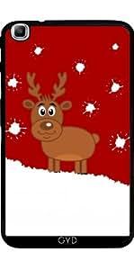 Funda para Samsung Galaxy Tab3 8.0 SM-T310 - Un Ciervo De Navidad En La Nieve by zorg