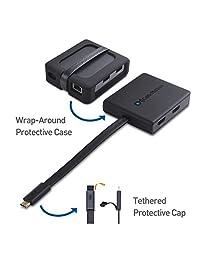 Cable Matters USB C adaptador multipuerto con HDMI dual y suministro de energía (compatible con Thunderbolt 3 puertos)
