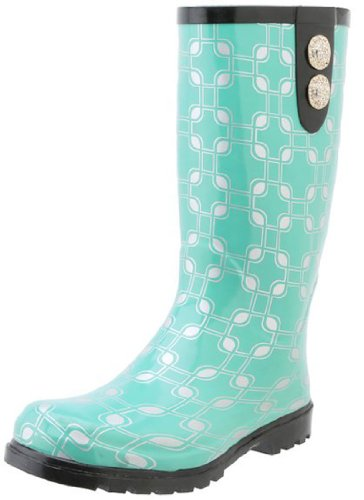 Nomad Women's Puddles I II III Fashionable Pull On Rubber Rain Boot