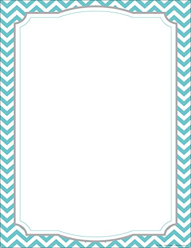 Barker Creek Turquoise Chevron Computer Paper, 8-1/2