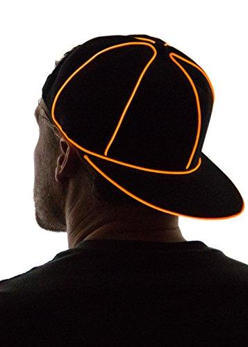 Neon Nightlife Light Up Snapback Hat, Orange -