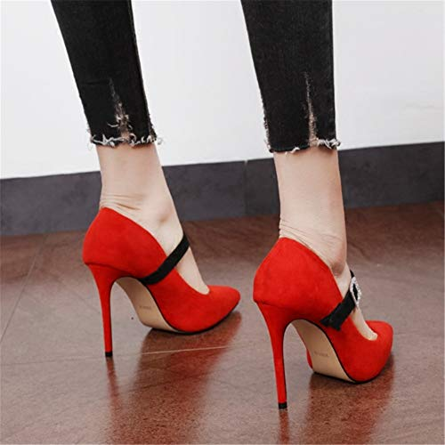 35 temperament heel elegant wedding with red EU shoes shoes shoes high fashion Fine YMFIE retro party single wqZXU4q1