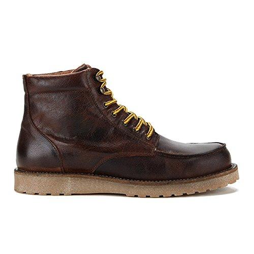JACK & JONES Jjgenton Leather Boot 1 Herren Stiefeletten mit dünnem Futter Braun