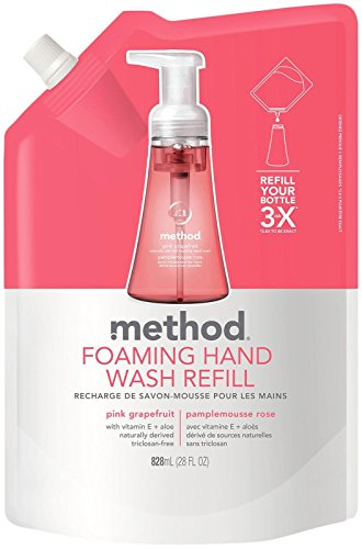 (Method Foaming Hand Wash Refill, Pink Grapefruit, 28 Ounce)