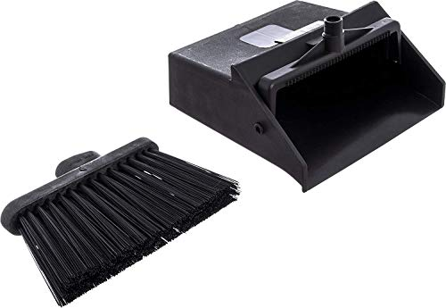 Carlisle 36141503 Duo-Pan Dustpan & Lobby Broom Combo, 3 Foot Overall Height, Black (Fоur Paсk) by Carlisle (Image #5)