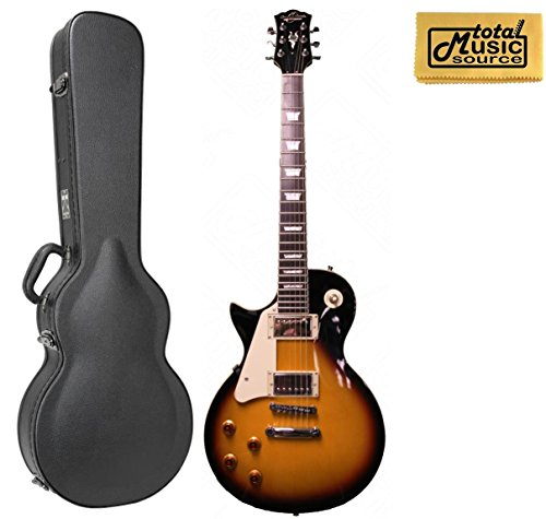 Oscar Schmidt by Washburn Left Hand LP Style Guitar, Sunburst, W/ Case