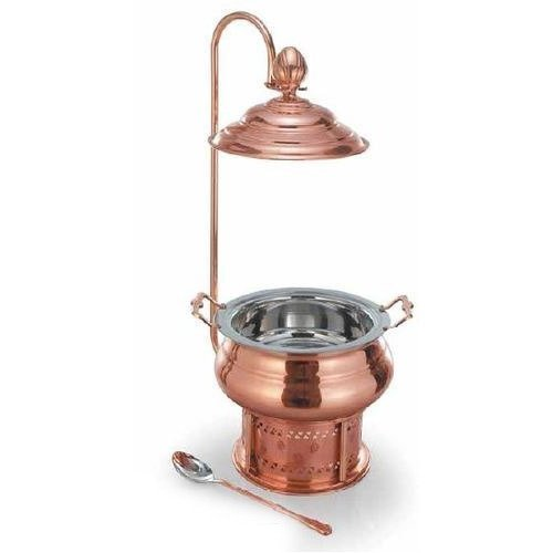 Round Copper Chafing Dish - Round Copper Chafing Dish (Regal) (4Liters Round Copper Chafing Dish(4.23 qtz))
