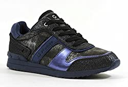 G by Guess Women's Fax Fashion Sneaker,Black Multi,6 M US