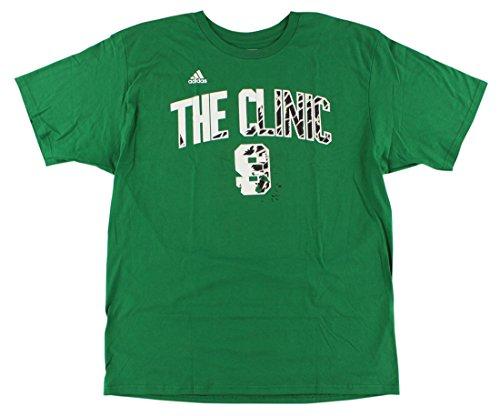(Adidas Mens Boston Celtics NBA Rajon Rondo Nickname T Shirt Dark Green L)