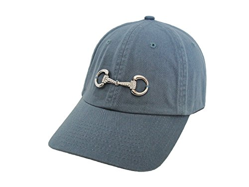 Baron Women's Snaffle Bling Bit Equestrian Accent Ball Cap One Size Smoky Blue