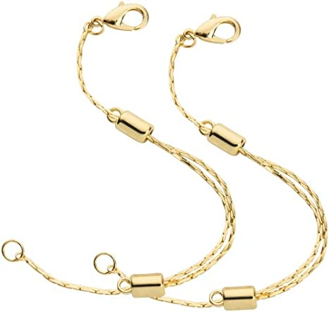 Amazon Com 14k Yellow Gold Filled Adjustable Necklace Chain Extender With Lobster Clasp 2 Extenders Arts Crafts Sewing