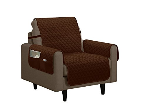 Home Sweet Home Quilted Slip Cover Furniture Protector (Chair, Brown)