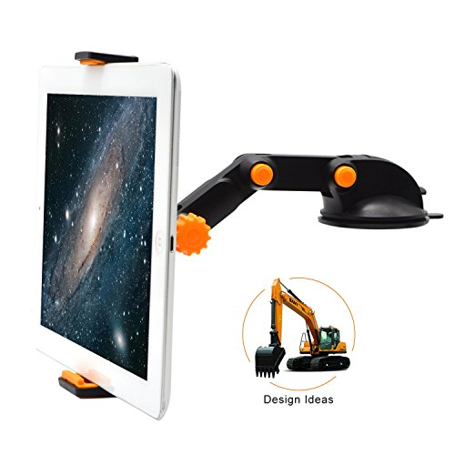 Car iPad Holder,CarBoss iPad Table Car Stand,GPS Windshield Holder,Excavator Style Dashboard Phone Cradle Car Mount Holder for iPhone (Samsung Galaxy Tab4 Car Mount)