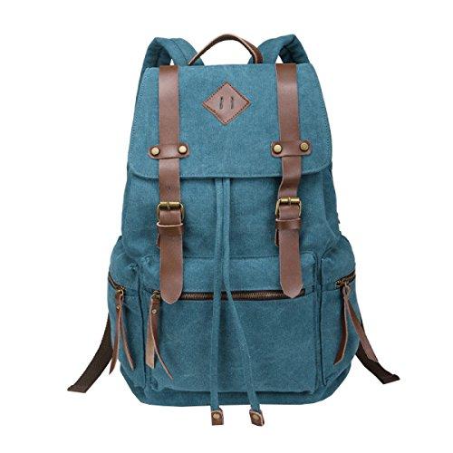 Laidaye Backpack Leisure Multi Retro Business purpose Bag Canvas Portable Travel Blue Shoulder 1r1wqv