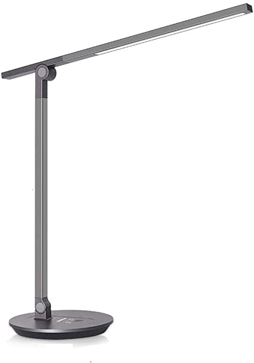 QZZZ Lámpara Escritorio LED, Aleación De Aluminio Lámpara De Mesa ...
