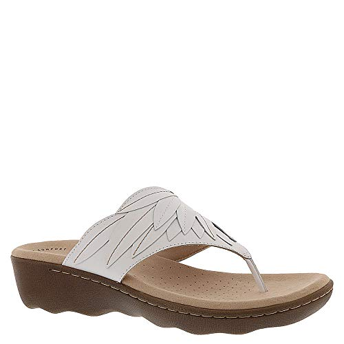 CLARKS Women's Phebe Pearl White Leather 7 M