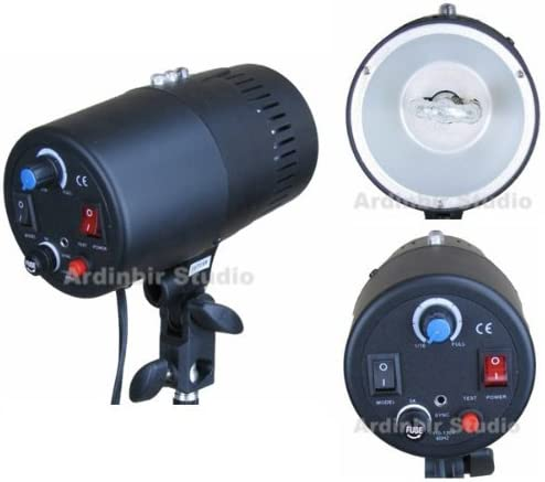 Ardinbir Studio Photo 160w 5600K Daylight Video Slave Master Strobe Monolight Flash Light Head Kit with Dimmer Control