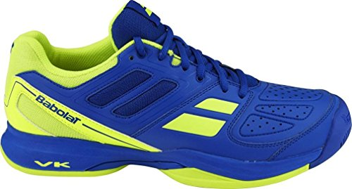 BABOLAT Pulsion All Court Chaussures Homme, Bleu/Jaune, 40.5