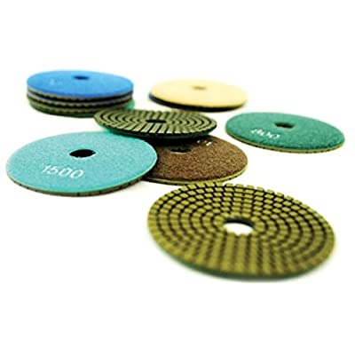 "NED NSWPP050050 5"" x 5/8"" Standard Wet Polishing Pad, 50 Grit: Industrial & Scientific"