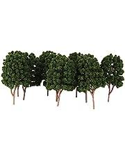 Obelunrp Landschap Landschap Bomen Model Diorama Groene Plant Modellen Kunstmatige Architectuur Bomen Model Groen 10 Stks, Puzzel, Driedimensionale Puzzel, Jigsaw Front, Alleen